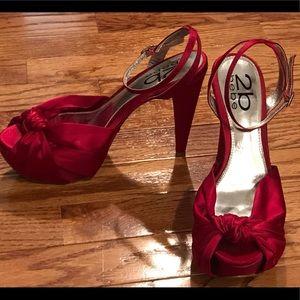 Bebe satin heels size 8